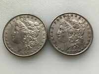 MORGAN SILVER DOLLARS 2 DIFFERENT DATES @@@ MUST SEE @@@ LOT D954