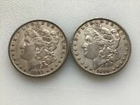 MORGAN SILVER DOLLARS 2 DIFFERENT DATES @@@ MUST SEE @@@ LOT D956