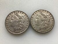MORGAN SILVER DOLLARS 2 DIFFERENT DATES @@@ MUST SEE @@@ LOT D957