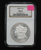1894-S MORGAN DOLLAR NGC MINT STATE 62 0FWM