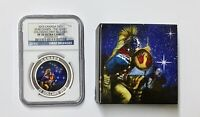 2015 $25 CANADA SILVER STAR CHARTS  THE QUEST COLORIZED NGC PF 70 WITH BOX & COA