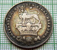 GREAT BRITAIN GEORGE IV 1826 ONE SHILLING SILVER TONED