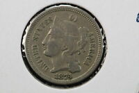 1874 3 CENT NICKEL OLD LIGHT CLEANING 0GAJ