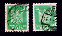 GERMAN EMPIRE 1924 / NEW DESIGN EAGLES / GREEN 5  / USED