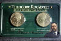 2013 - P&D THEODORE ROOSEVELT PRESIDENTIAL GOLDEN DOLLAR COIN SET I1736