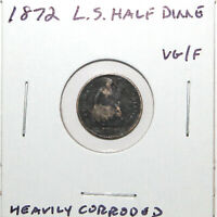 1872 SEATED LIBERTY HALF DIME  GOOD DETAILS HOLE FILLER 74C