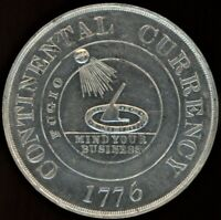 1776 CONTINENTAL CURRENCY SO CALLED DOLLAR BOWER'S RESTRIKE HK 854A