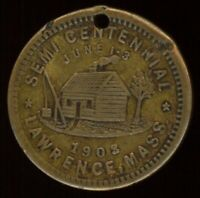 1903 LAWRENCE MASS. SEMI CENTENNIAL MEDALET WITH LORD'S PRAYER
