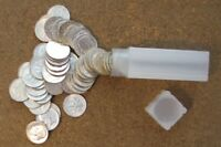 ROLL  50 COINS  ROOSEVELT SILVER DIMES  1964 AND BEFORE MIXE
