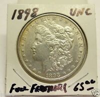 VAM? 1898 MORGAN SILVER DOLLAR BRILLIANT UNCIRCULATED