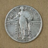 1927-D STANDING LIBERTY QUARTER VF LOW MINTAGE  A-142