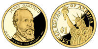 2011 S GEM PROOF DCAM PR JAMES GARFIELD PRESIDENTIAL DOLLAR UNCIRCULATED COIN PF