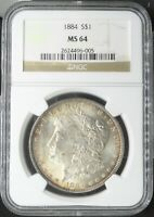 1884 MORGAN DOLLAR NGC MINT STATE 64