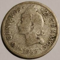 1963 DOMINICAN REPUBLIC 10 CENTAVOS IN