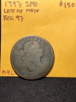 1797 DRAPED BUST LARGE CENT S.140 REV 97 LATE DIE STATE