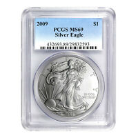2009 $1 AMERICAN SILVER EAGLE MINT STATE 69 PCGS