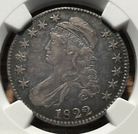 1822 CAPPED BUST HALF DOLLAR NGC EXTRA FINE  45