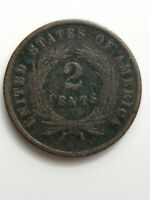1864 2 CENT PIECE US COIN