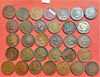 32 INDIAN HEAD PENNIES FROM DIFFERENT YEARS BETWEEN 1864-1909 2