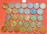 32 INDIAN HEAD PENNIES FROM DIFFERENT YEARS BETWEEN 1864-1909 3