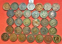 32 INDIAN HEAD PENNIES FROM DIFFERENT YEARS BETWEEN 1864-1909 4