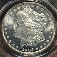 1904 O MORGAN SILVER DOLLAR SERIES: 52  COIN: 91 PCGS MINT STATE 65 PL