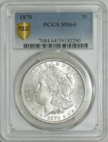 1879 MORGAN DOLLAR $ MINT STATE 64 SECURE PLUS PCGS 942980-3