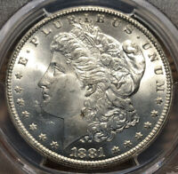 1881 CC MORGAN SILVER DOLLAR PCGS MINT STATE 65 CARSON CITY S$1