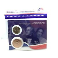 PRESIDENTIAL $1 COIN AND FIRST SPOUSE MEDAL SET/ JOHN TYLER
