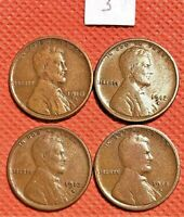 1910-S, 1912-S, 1913-S, 1915-S WHEAT CENTS, PENNY, KEY DATE COINS 3