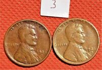 1922-D, AND 1926-S KEY DATE WHEAT CENTS COINS PENNY 3