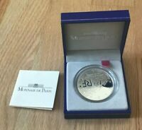2005 FRANCE 1 1/2 EURO SILVER PROOF   WORLD WAR II DOVES   NEW IN BOX WITH COA