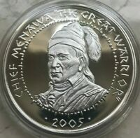 2005 POARCH CREEK INDIANS US NATIVE AMERICAN SILVER 1 OZ ROUND   PROOF