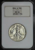 1944-S WALKING LIBERTY HALF DOLLAR NGC MINT STATE 64 OLD FATTY HOLDER POSSIBLE UPGRADE