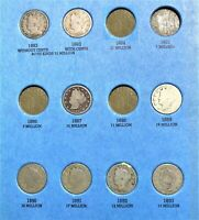 COINS FROM PAGE 1 OF 1883 1912 V NICKEL FOLDER