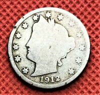 1912-S V-NICKEL COIN, SEE PICTURES FOR DETAIL
