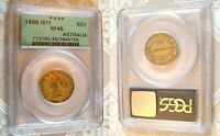 1866 SYDNEY MINT GOLD COIN SOVEREIGN PCGS OLD GREEN HOLDER