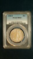 1920 S WALKER HALF PCGS MINT STATE 63 BETTER DATE SILVER 50C COIN PRICED TO SELL