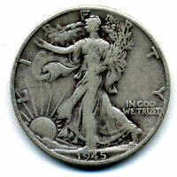 1945 D WALKING LIBERTY HALF DOLLAR KEY DATE SILVER 50 CENT FACE COIN U.S 103148