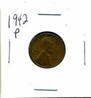 1942 P WHEAT CENT 1 CENT KEY DATE US CIRCULATED ONE LINCOLN  COIN U.S 3115