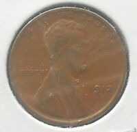 1912 P UNITED STATES LINCOLN WHEAT EARS CENT  GRADE VF CIRCULATED  WB 1
