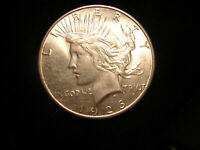 1926-S PEACE SILVER DOLLAR , AS PICTURED.