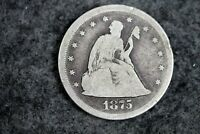 ESTATE FIND 1875   S SEATED LIBERTY TWENTY CENT PIECE   J116