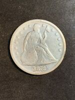 1872 SEATED LIBERTY DOLLAR CLEANED