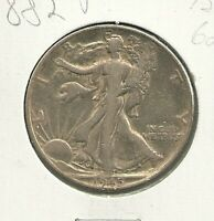 1945 P WALKING LIBERTY  90  SILVER 50 CENT