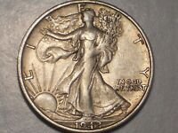 1942 S WALKING LIBERTY HALF DOLLAR EXTRA FINE  & ATTRACTIVE