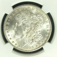 1898-O NGC MINT STATE 64 MORGAN SILVER DOLLAR  GENE L. HENRY GREAT NORTHWEST REF01-016