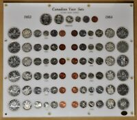 1953 TO 1964 CANADIAN SILVER YEAR SETS IN CAPITAL PLASTICS HOLDER