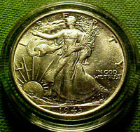 1943 WALKING LIBERTY HALF DOLLAR 50 CENTS 50C  BRIGHT LUSTROUS  COIN  20CO