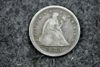 ESTATE FIND 1875   S SEATED LIBERTY TWENTY CENT PIECE   J120